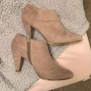 X Appeal Taupe Booties Size 9